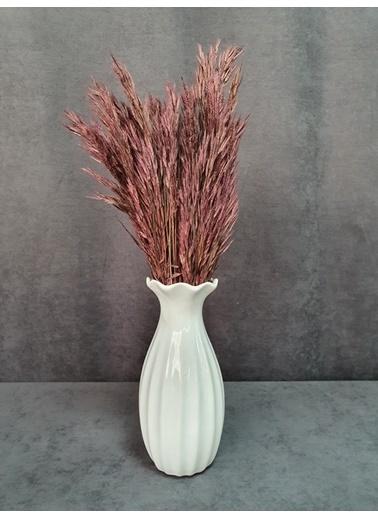 Kuru Çiçek Deposu Kuru Çiçek Yulaf Otu Demeti 50 Cm Yeşil   Bordo